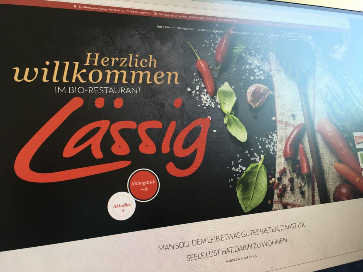 WordPress mit Parallax Scroll: Bio-Restaurant Lässig