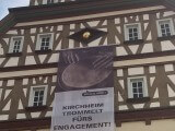Banner am Rathaus Kirchheim