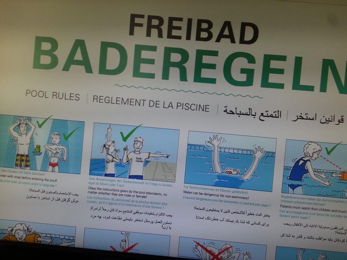 Baderegeln auf Arabisch