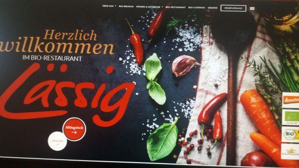 Bio-Restaurant Lässig Webseite