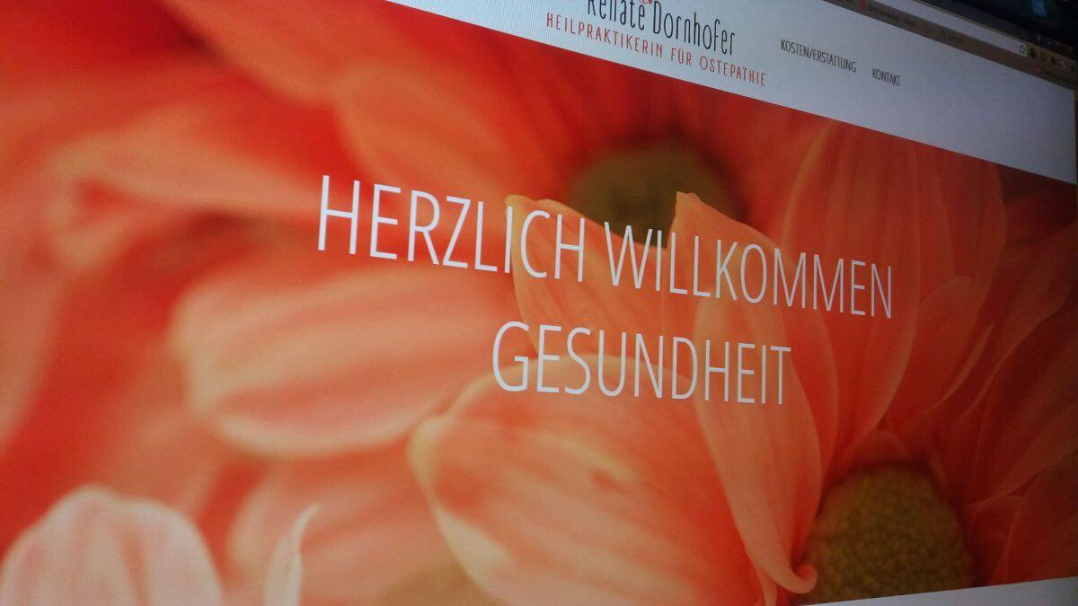 Renate Dornhofer prägnant: Onepage mit WordPress