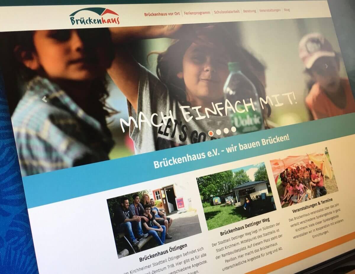 Webseite Brückenhaus