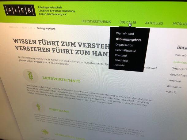 Aleb Webseite