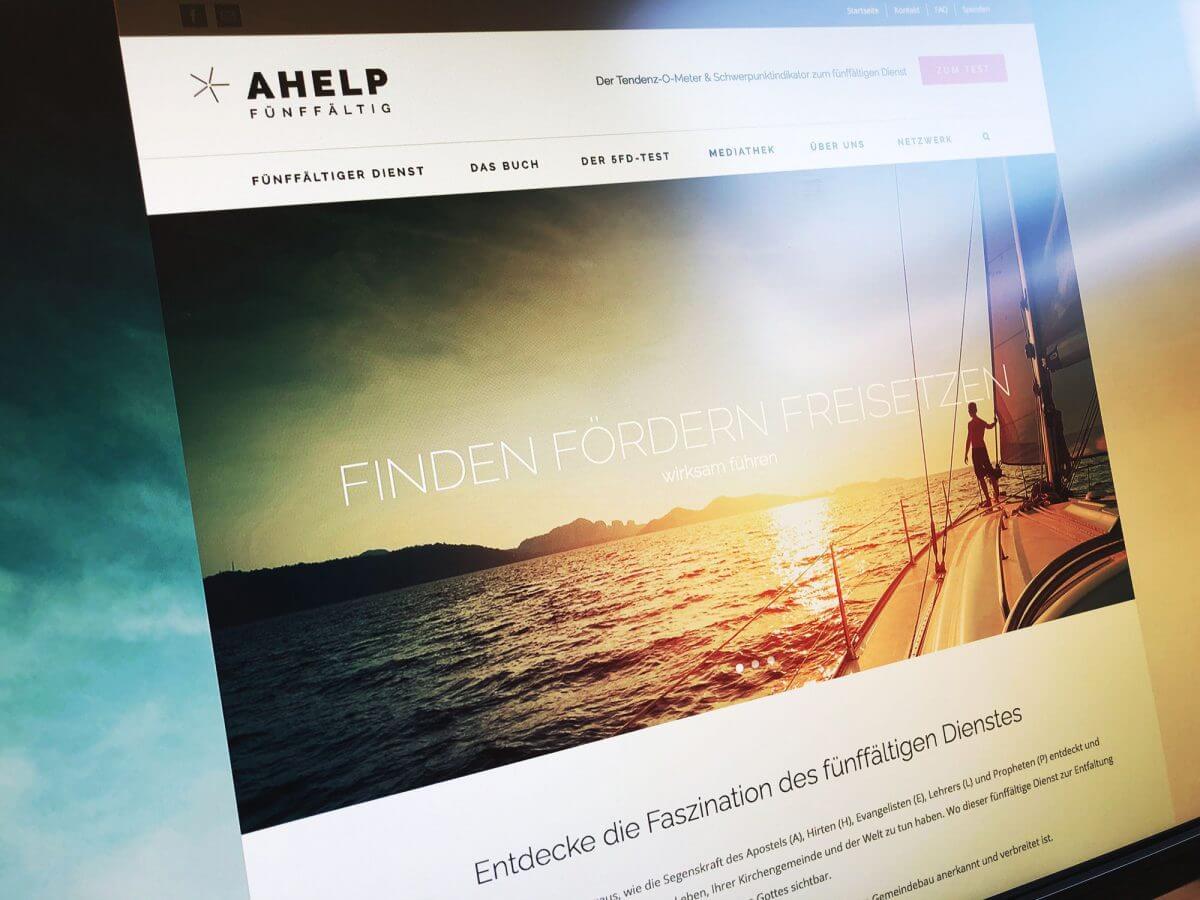 WordPress-Internetseite ahelp – Dr. Stefan Vatter