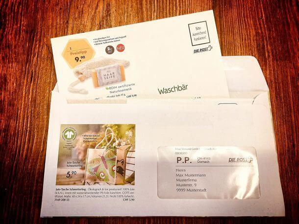 Waschbär Mailing Versandhülle