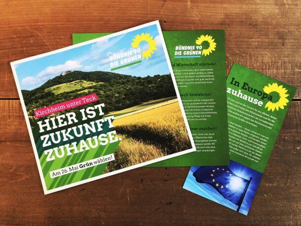 Werbekampagne - die Grünen