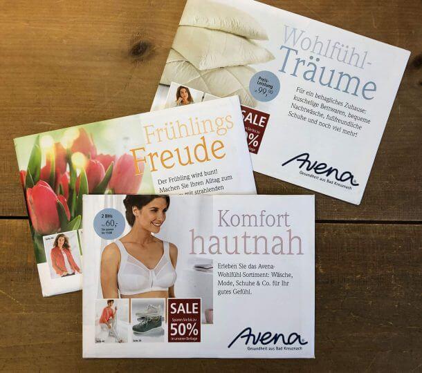 Katalog-Relaunch Neupositionierung Avena-Versand Versandhülle