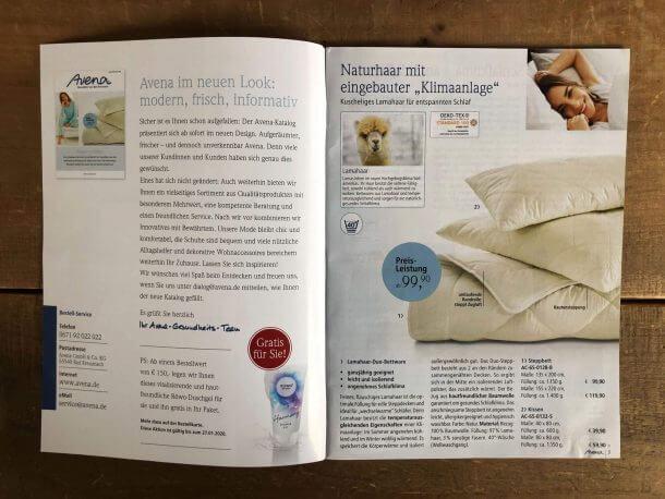 Katalog-Relaunch Neupositionierung Avena-Versand_Einstieg