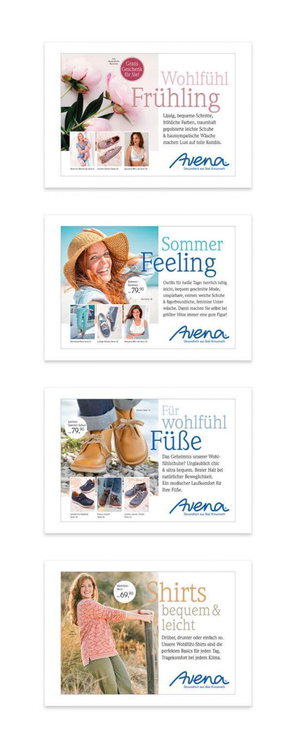 Katalog-Relaunch Neupositionierung Avena-Versand Anstosskette