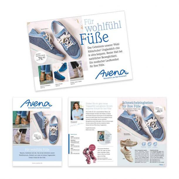 Katalog-Relaunch Neupositionierung Avena-Versand Hülle und Einstieg