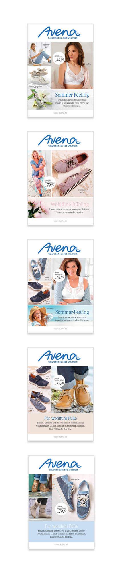 Katalog-Relaunch Neupositionierung Avena-Versand Titelvarianten