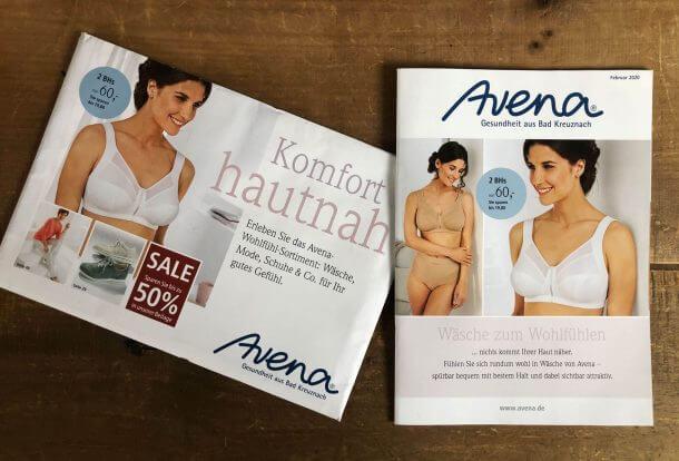 Katalog-Relaunch Neupositionierung Avena-Versand Wäschekatalog