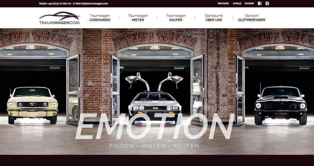 WordPress-Internetseite Traumwagen.com