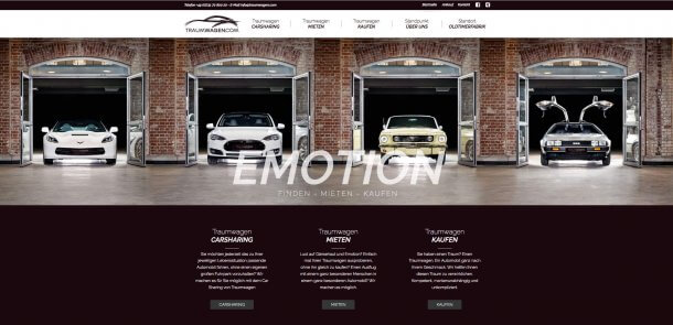 Webdesign mit Wordpress von bzweic GmbH: Traumwagen.com
