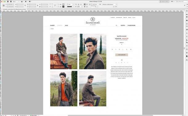 Screenshot Schneiders-Webshop Detailseite