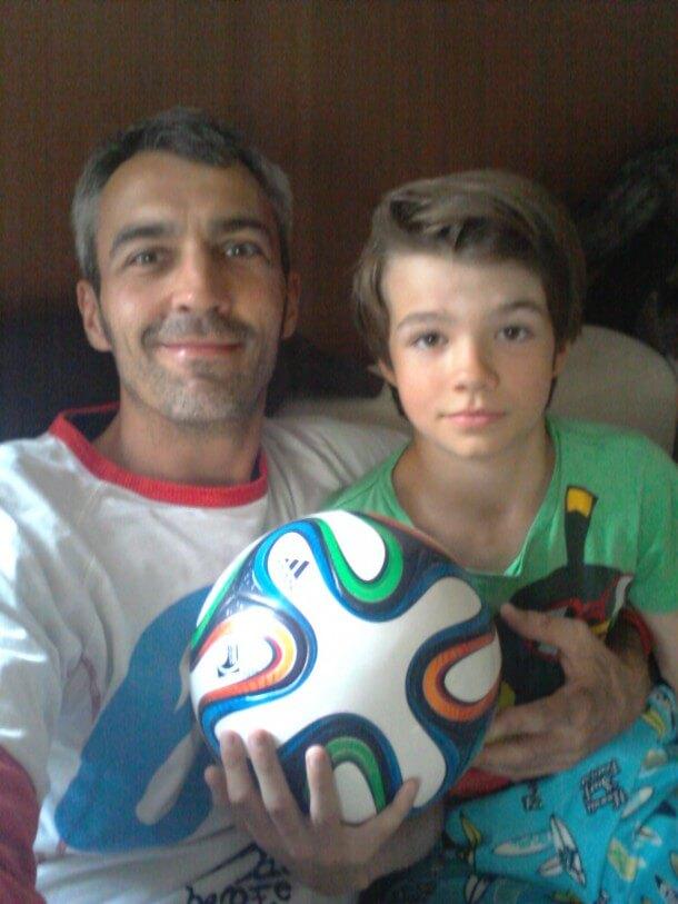 Platz 5: Martin aka Mailand, Madrid, Italien mit Sohn Nelson
