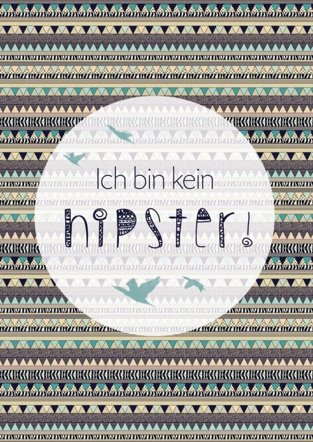 Postkarte Hipster