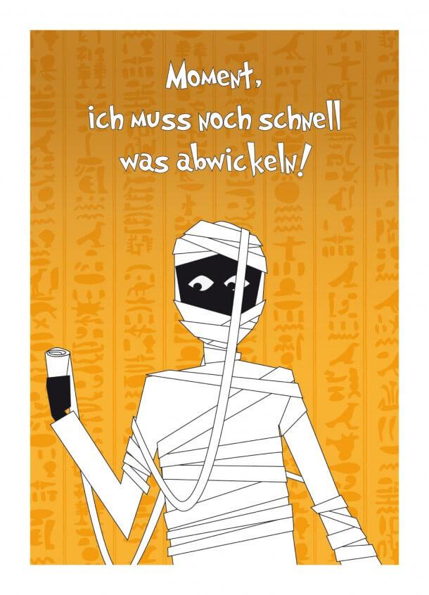 Postkarte Mumie