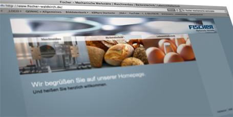 Website Fischer Metallbau